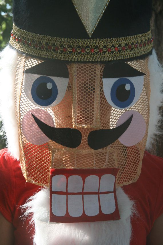 Nutcracker Mask Costume Headpiece Helmet For Stage By