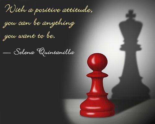 quote on positive attitude by Selena Quintanilla