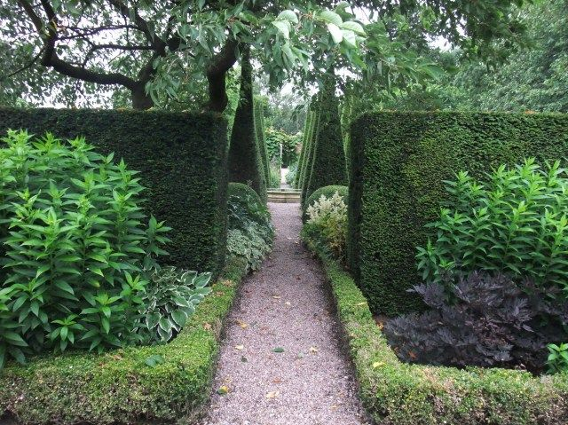 Topiary structure at Wollerton Old Hall, UK