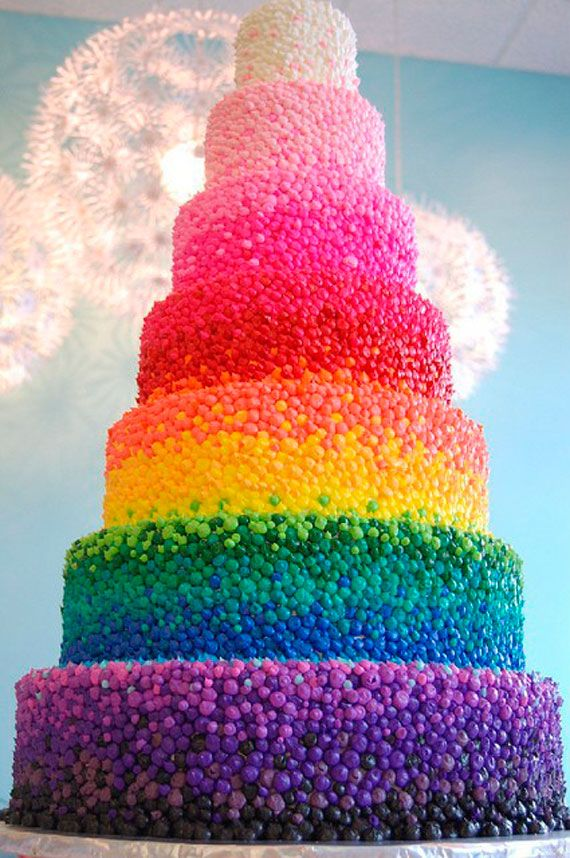 RAINBOW CANDY CAKE :O: Rainbows Weddings, Weddings Cakes, Rainbow Cakes, Color Cakes, Rainbows Cakes, Jelly Beans, Candy Cakes, Jellybeans, Birthday Cakes