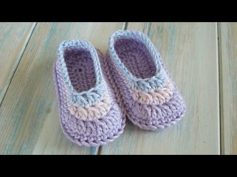 how to crochet baby bootie sole tutorial - YouTube