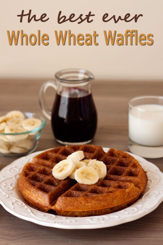 The Best Whole Wheat Waffles Ever- I didn't have corn starch and ha to make the recipe a bit different but its a great base.