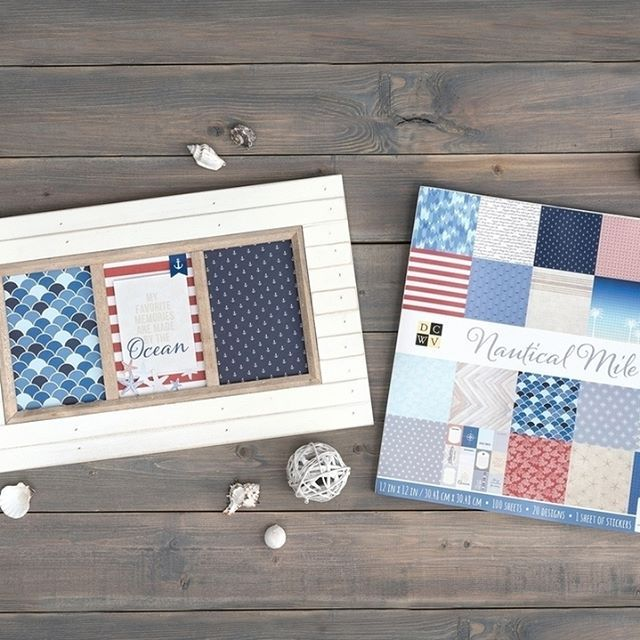 Last in our lineup of new projects from our 101 page stacks (for this round anyway!) is a home decor piece from Nautical Mile.  Available online, it is one you'll need for your crafting collection! . . . #newrelease #dcwvmaker #dcwvinc #nautical #seashellsbytheseashore