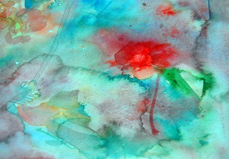 wet-in wet  watercolour  experimental-Ercan GUNAY