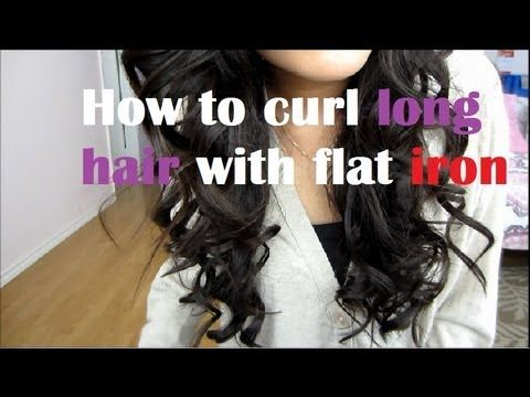 HOW TO CURL LONG HAIR WITH FLAT IRON (TECHNIQUE)