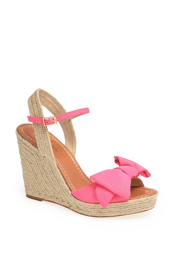 kate spade new york 'jumper' bow sandal wedges