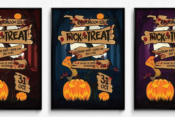 Halloween Sign Poster by SNK's on Creative Market