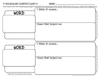 FREE Common Core Vocabulary: Using Context Clues {Grades 2-5} - by Tracee Orman