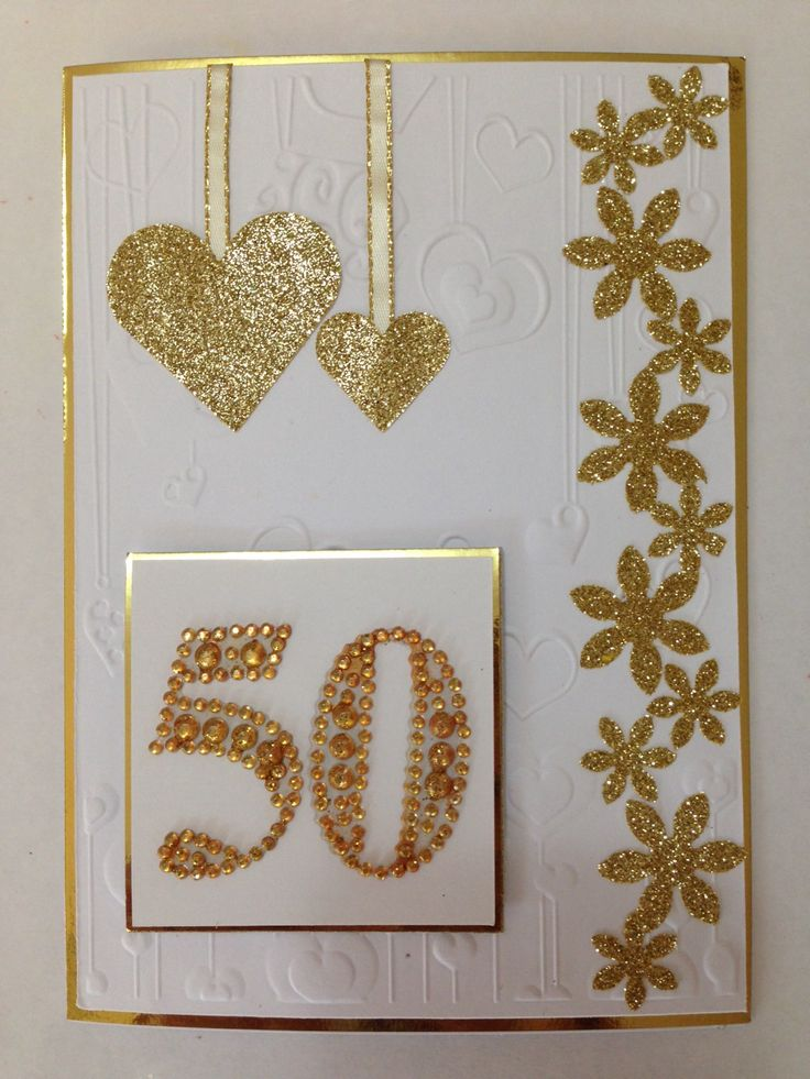 50 th wedding anniversary card for mum & dad
