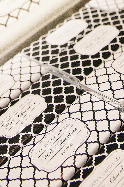 """black and white candy bar with """"celebrate 2012, rejoice in 2013"""" on the label #whbm #feelbeautiful for gift bags"""
