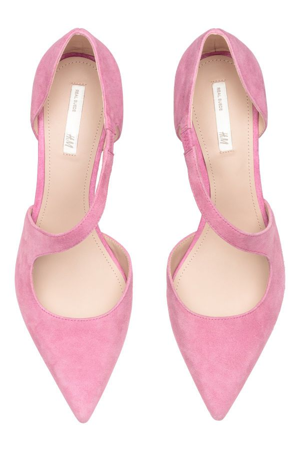 los angeles 2c826 0b585 Pumps aus Veloursleder | Rosa | DAMEN | H&M AT | high heels ...
