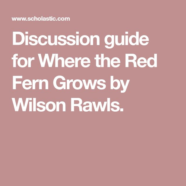 a book report on where the red fern grows by wilson rawls Where the red fern grows review /// author wilson rawls broken bookshelf  (book summary and review) - minute book report - duration:  where the red fern grows by wilson rawls - duration:.