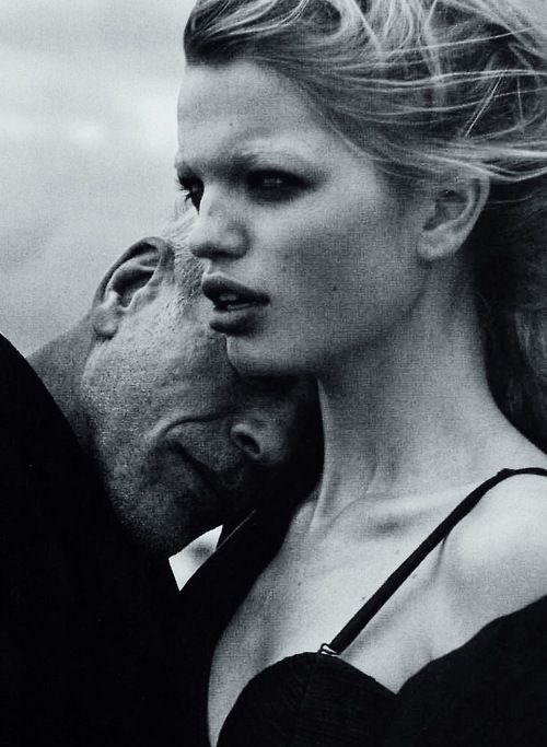 Daphne Groeneveld and Pascal Greggory by Peter Lindbergh