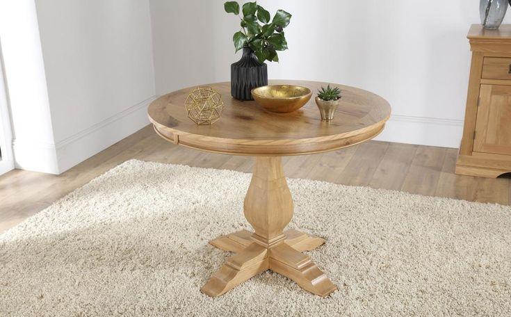 Cavendish Round Oak Dining Table 100cm