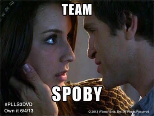 Re-pin if Team Spoby is your favorite couple!  And don't forget to pre-order your copy of PLL season 3 on DVD!