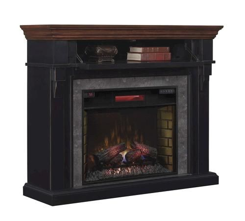 Mayville Electric Fireplace In Cottage Revival Black At Menards Projects To Try Pinterest