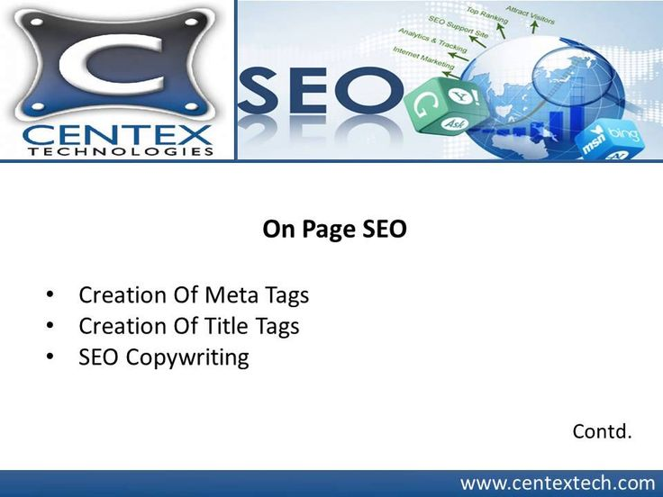 Get your business on top of search engine listings with Centex Technologies' search engine optimization services. The Dallas based company adopts SEO strategies including web development and webmaster account setups. The team at the company uses SEO process including analysis, on page SEO and off-page SEO. For details, visit : http://www.centextech.com
