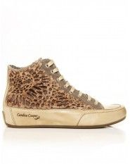 Candice Cooper Brown Plus Flower Plique Trainers
