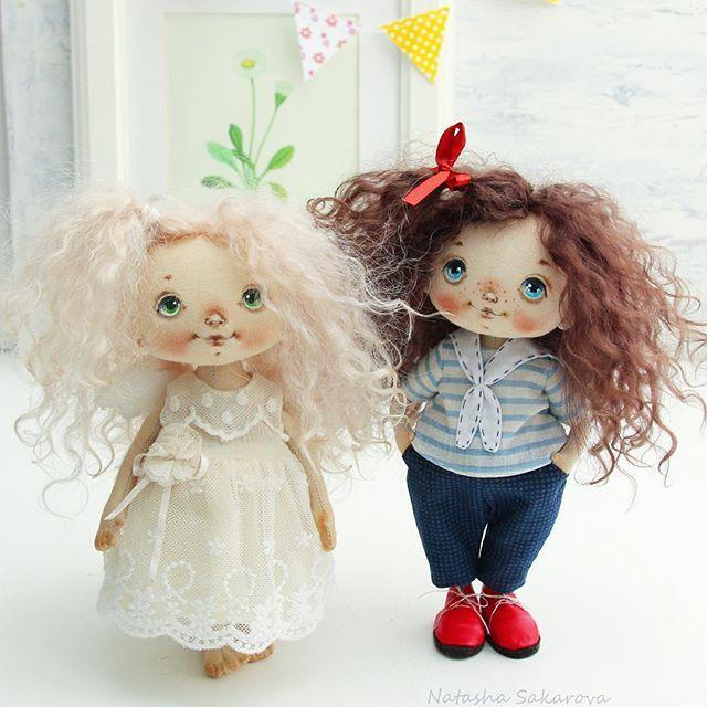 textile handmade doll by Сахарова Наталья