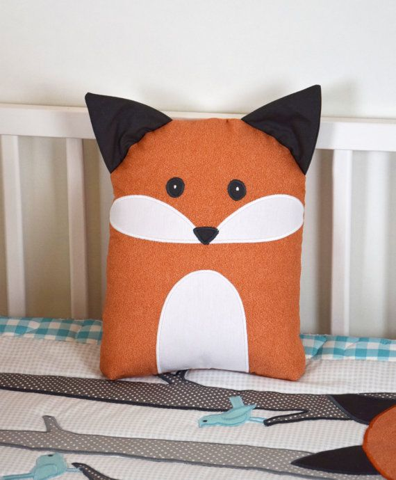Fox Blanket Teal Gray Nursery Baby Boy Quilt by Customquiltsbyeva