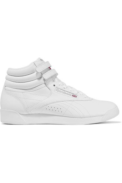 Reebok - Freestyle Leather High-top Sneakers - White - US6.5