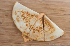 Copy Cat Taco Bell Quesadilla recipe... only with real meat! I tried this recipe and it was not anything like taco bell's. Maybe the next one I find will taste more like it. Dont get me wrong, it was good just not as good as Taco Bell.