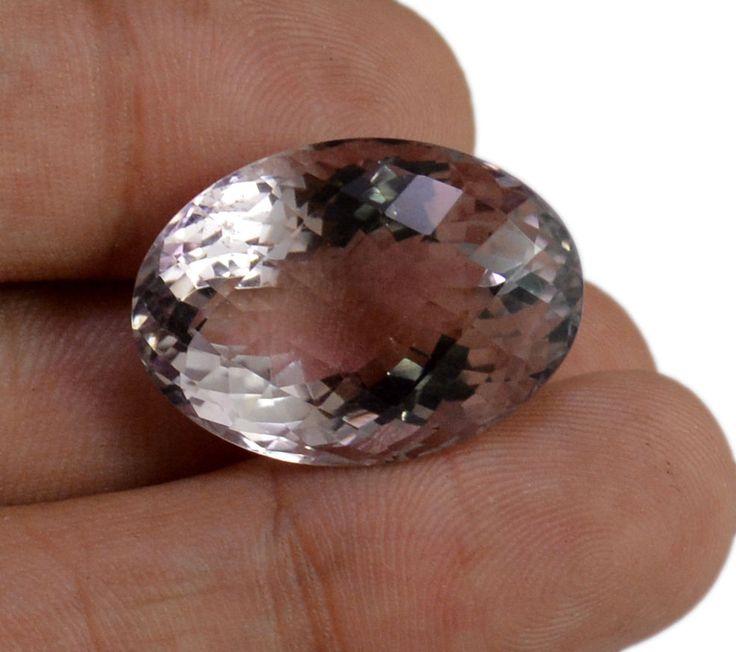 37ct VS Big Rare Natural Light Purple Amethyst Quartz Faceted Loose Gemstone #krishnagemsnjewels