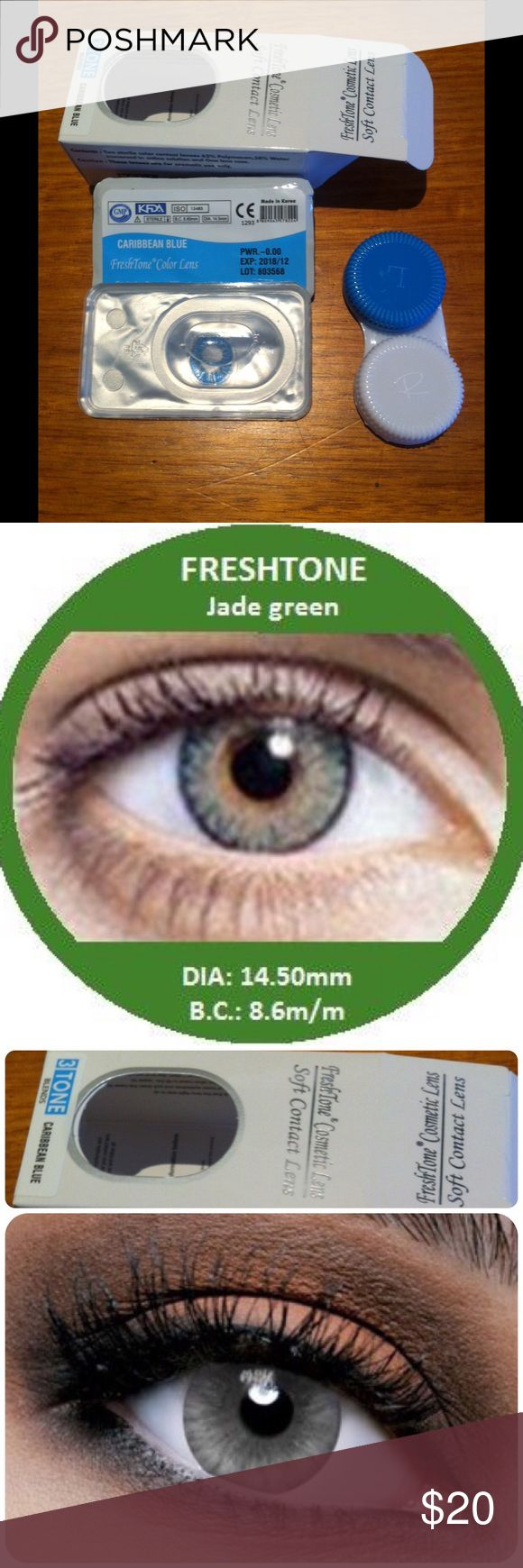 How to order colored contacts online - Freshtone Jade Green Buy Best Quality Non Prescription Colored Contact Lenses 1