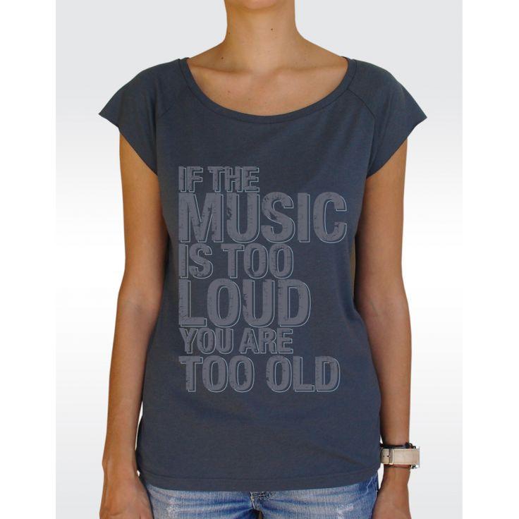 W43 MUSIC LOUD T-shirt Women's Bamboo Viscose Raglan T-Shirt Available in 5 colours