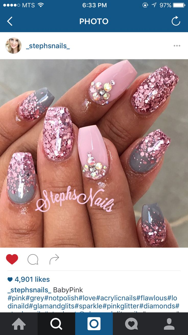 Pink glittery emoji nail art 183 how to paint a glitter - Beautiful Nails Done By Steph