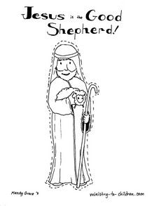jesus is the good shepherd coloring page little lambs lessons 2