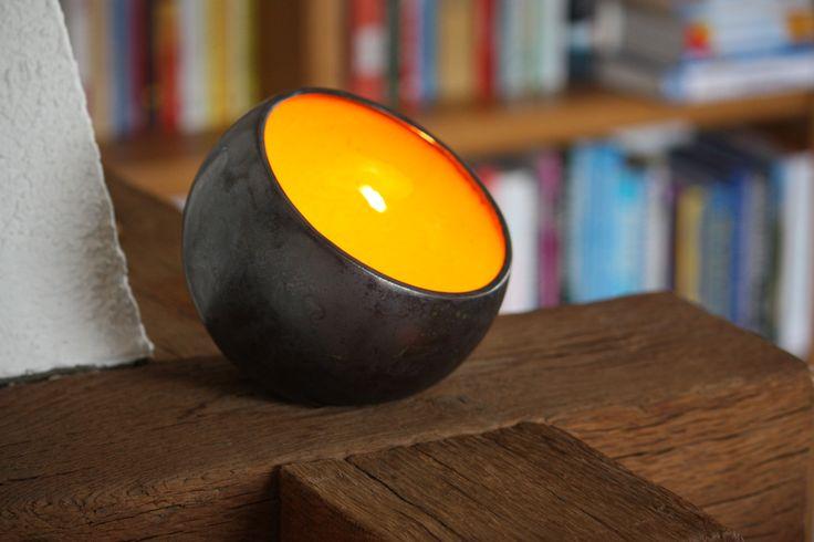 Orange Lichtschale  marwo-keramik.de