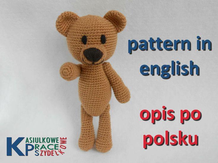 crochet teddy bear pattern / opis szydełkowego misia  http://www.ravelry.com/patterns/library/crochet-teddy-bear-4