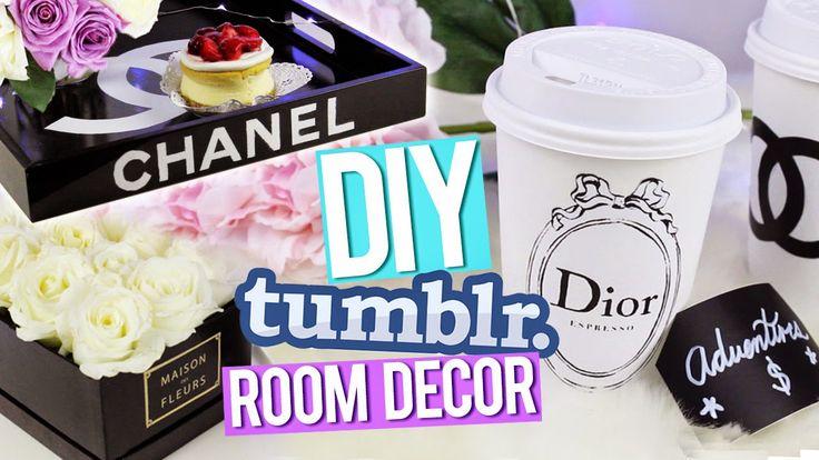 DIY Tumblr Room Decor ♥ Chanel Tray, Dior Piggy Bank & More!