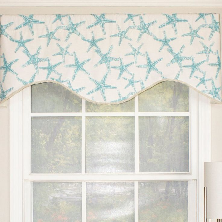 The beach star cornice valance offers bright colors to enliven any nautically-themed room. Gather for smaller windows, or add multiples for larger treatments. Vacuum for dust or spot clean.
