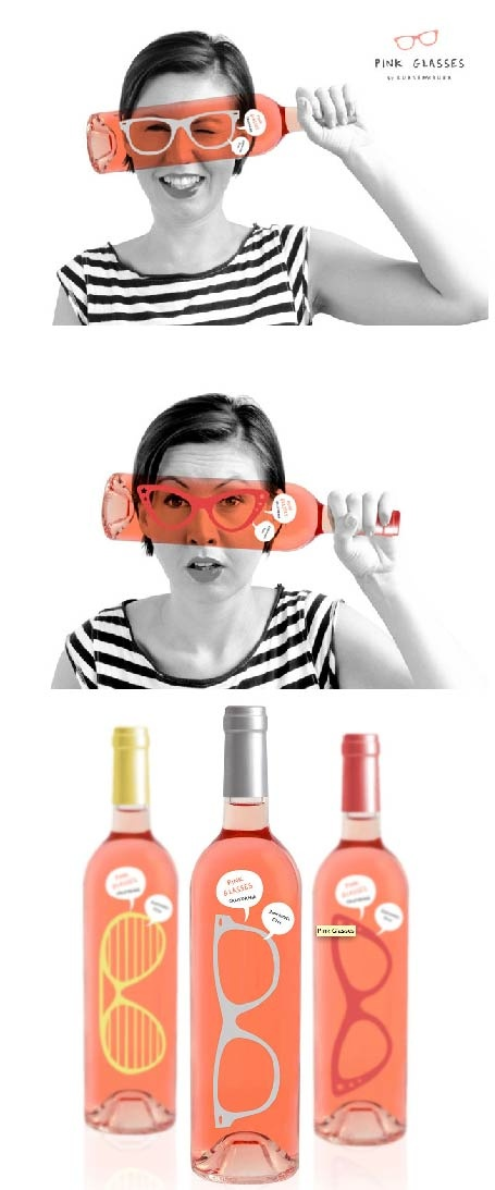 Adorable and clever wine bottle label!
