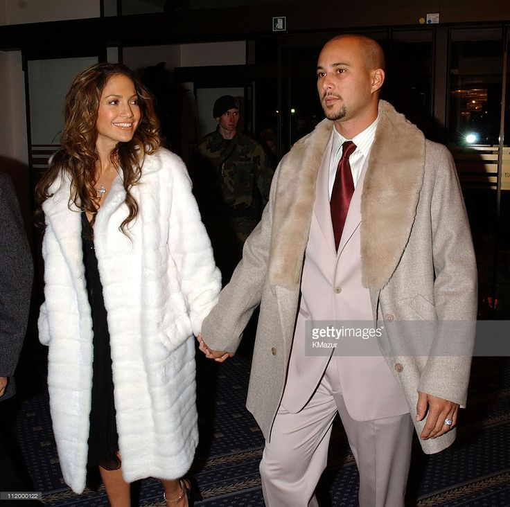 Jennifer Lopez and husband Cris Judd at Ramstein Air Base in Germany Saturday Dec. 8, 2001, for United States servicemen in partnership between MTV U.S. and the USO, in conjuction with Armed Forces Entertainment. Other performers included Kid Rock and Ja Rule for a holiday TV event, 'For the Troops: An MTV/USO Special', airing on MTV U.S. Tuesday, January 1, 2002, at 2pm (ET/PT). MTV U.S VJ Carson Daly will host the show.
