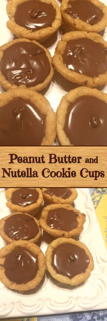 Peanut Butter and Nutella Cookie Cups Delicious as it is simple. Just a few simple ingredients and you will have the most amazing cookie cups filled with the most simple and delicious filling. #easy #semihomemade #sogood #nutella #peanut butter