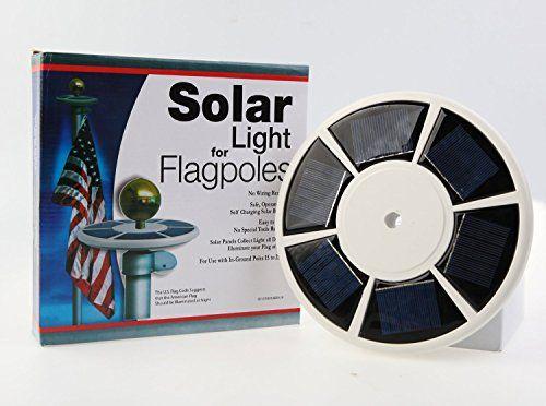nice MineTom LED Downlight Solar Flag Pole Light for Night illumination, Longest Lasting, Flag Coverage with State-of-Art Technology