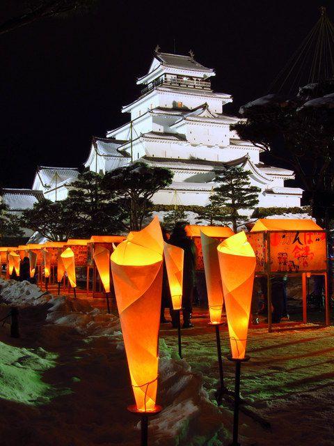 Art Candle Festival, Aizu-Wakamatsu City, Fukushima  JAPAN