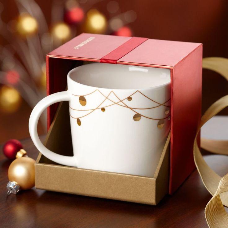 Starbucks String of Lights Coffee Cup Mug 2012 New in Box Bone China #Starbucks