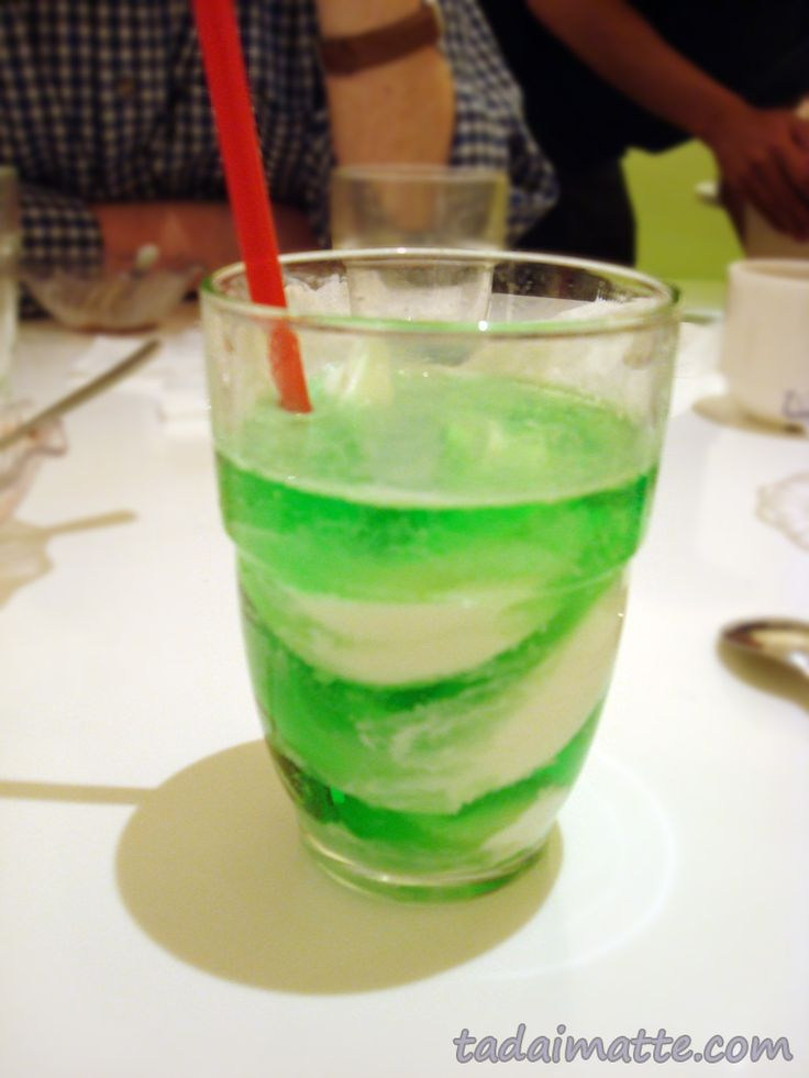 Tadaimatte: Melon Soda Recipe