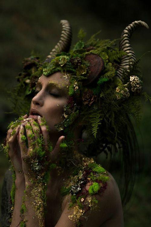 "missgdesigns: "" Photographer: Emily Nicole Teague Photography Model: Kelli Kickham Makeup: Mckenzie Gregg MUA Headdress: Miss G Designs Horns: Faust & Company Lighting Assistant: Christina Schellhous """