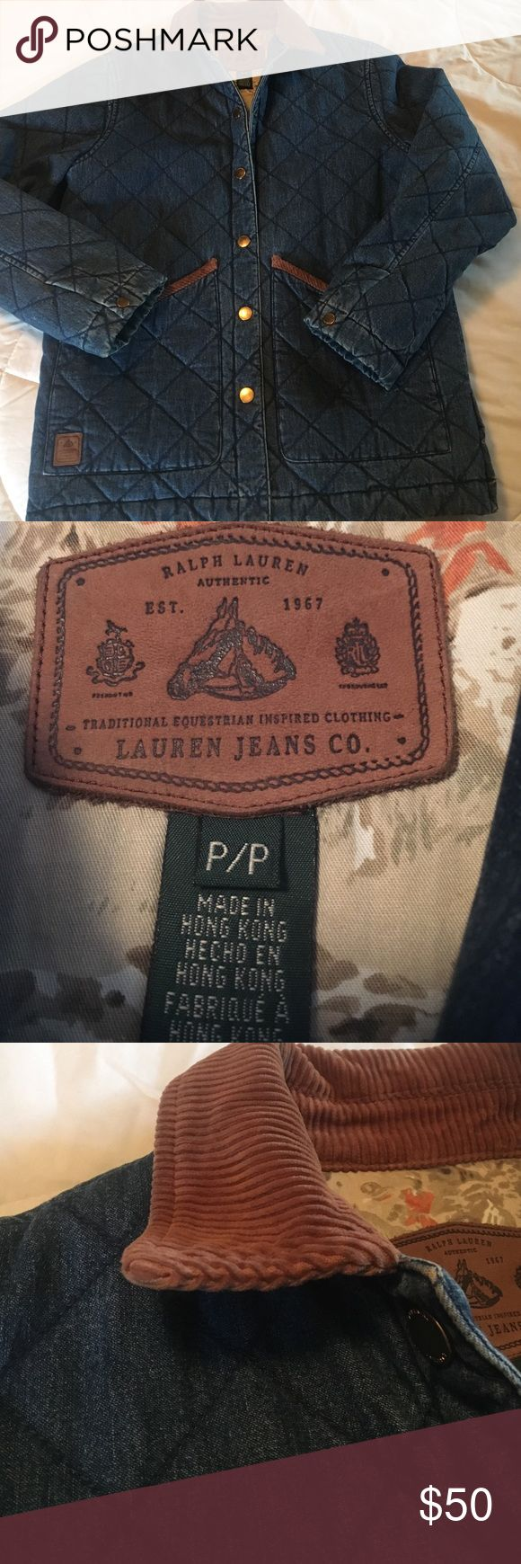 Lauren Jeans Co Equestrian Supply Quilted Jacket Lauren Jeans Co Equestrian Supply Quilted Denim Jacket Ralph Lauren Jackets & Coats