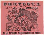 Poster relating to the protest of the revolutionary artists of Mexico