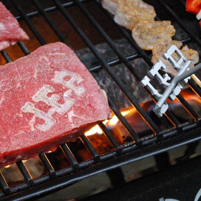 You may be all hat and no cattle, but that doesn't mean you can't #brand your steaks. Well, it's not the same as branding heifers, but this custom #BBQ branding iron will still get your initials on the steak before it becomes food on the #table. - http://thegadgetflow.com/portfolio/bbq-branding-iron/