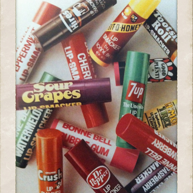Bonne Bell Lip Smackers - my very first make-up. The strawberry and bubble gum were my favorites