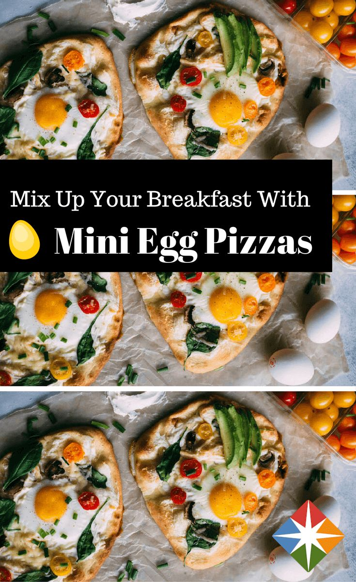 Mix up your breakfast with these mini egg pizzas! Full of protein and other good-for-you nutrients--bet you can't eat just one!