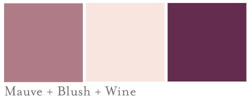 Blush and Mauve Wedding Colors | Mauve_Blush_Wine