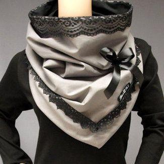 Kragen Tuch Schal Loop Shabby Rockabilly von BlackCherrysStore